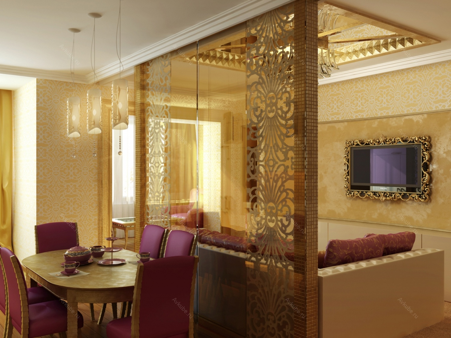 Selected room: dining.